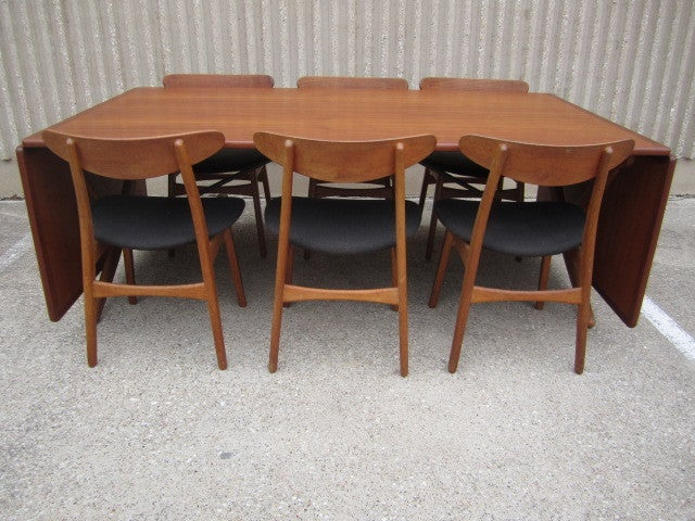 Large Drop Leaf Dining Table By Hans Wegner For 7