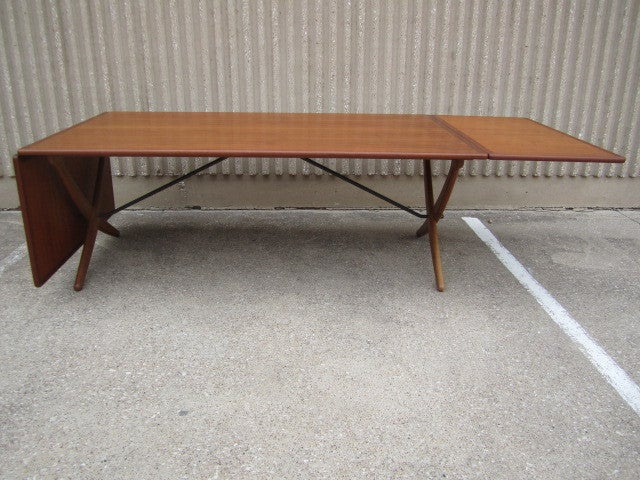 Large Drop Leaf Dining Table By Hans Wegner At 1stdibs