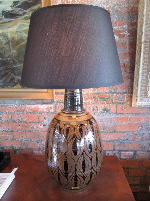 Pair of pottery lamps by Wishon-Harrell image 2