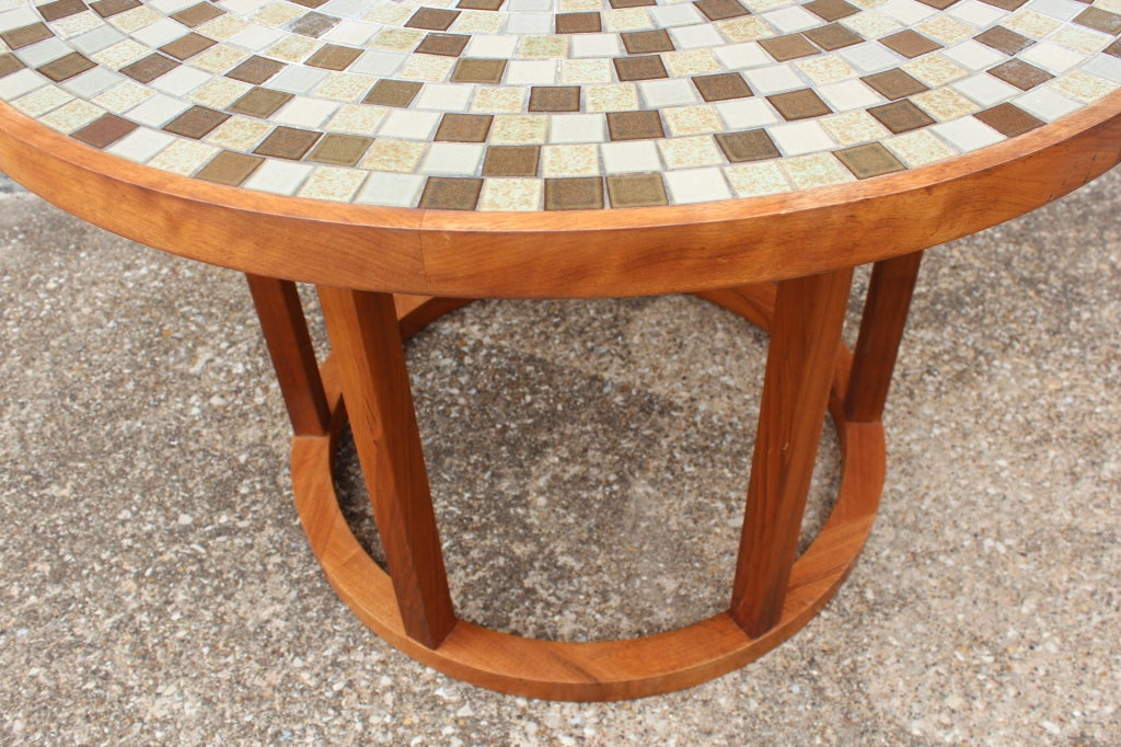 ceramic tile top dining table by gordon martz at 1stdibs