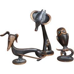 Small bronze figurines by Franz Hagenauer