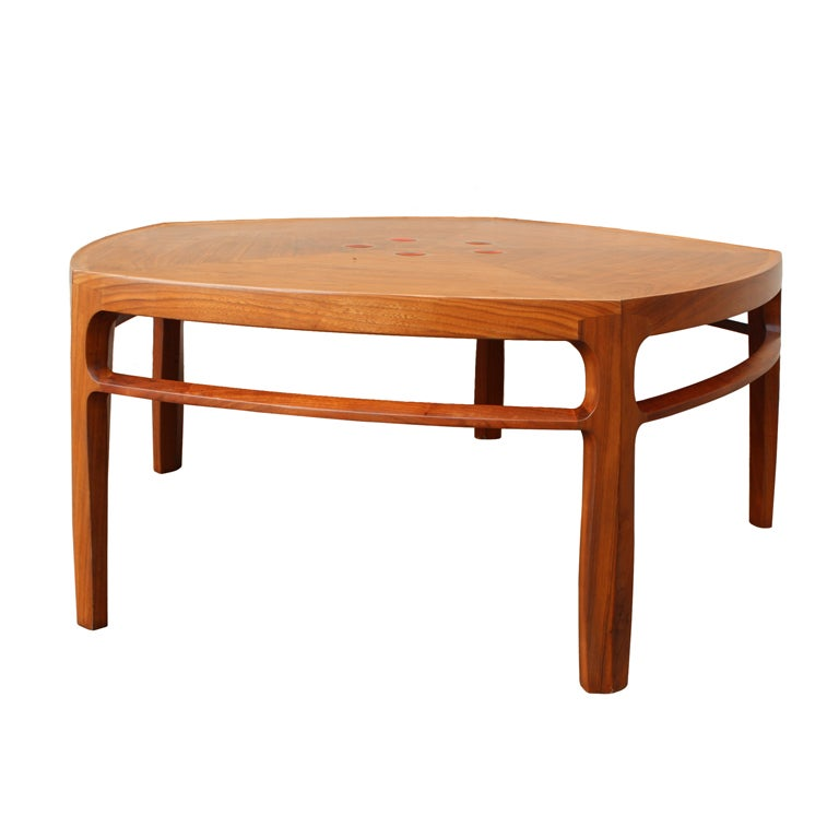 Coffee Table By Edward Wormley For Dunbar With Natzler Tiles At 1stdibs