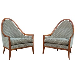 Pair of Throne chairs by Harvey Probber