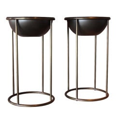 Pair of Bronze Planters by Hugh Acton