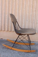 An Early All Original Rocking Chair by Charles Eames image 2