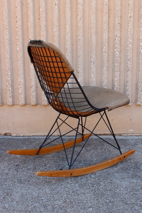 An Early All Original Rocking Chair by Charles Eames 3