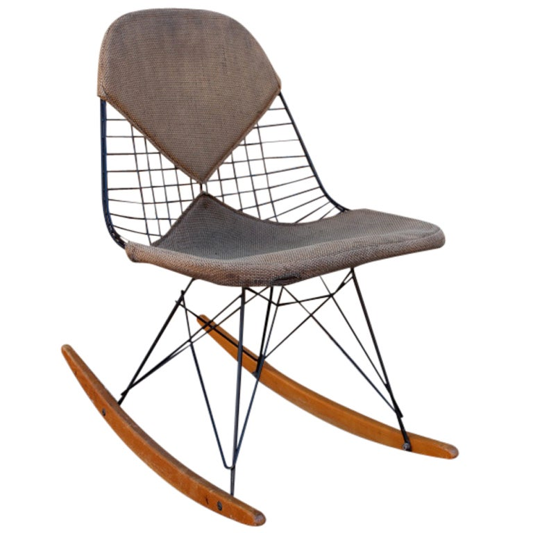 an early all original rocking chair by charles eames at
