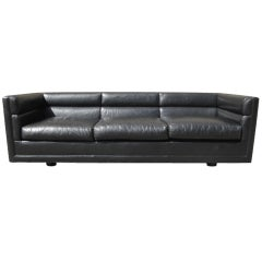 Leather sofa by Edward Wormley for Dunbar