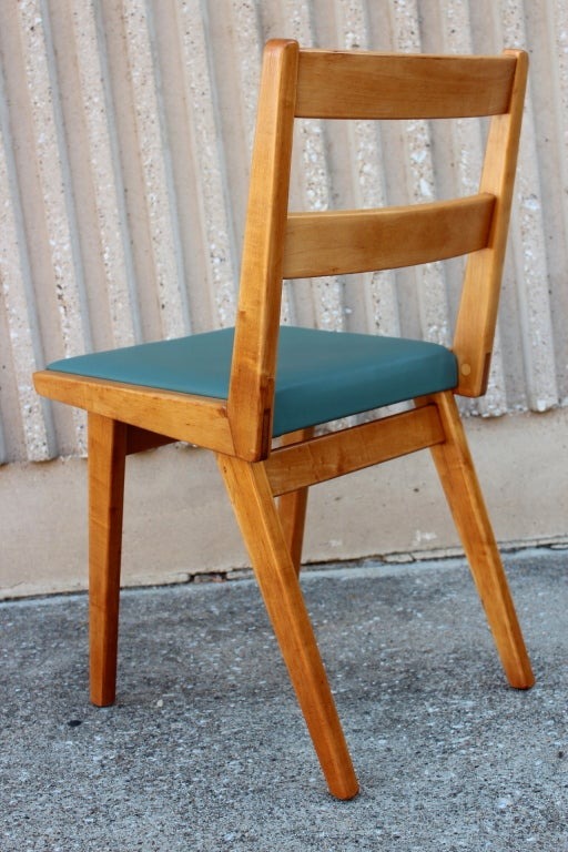 Set Of Twelve Maple Dining Chairs At 1stdibs