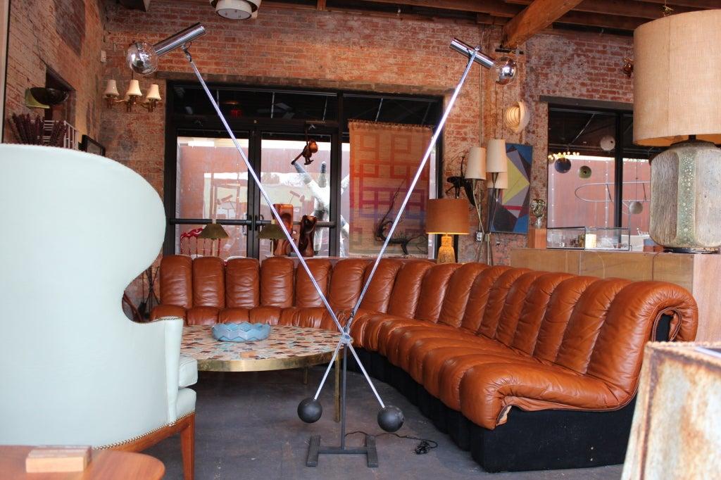 Large Pendulating Floor Lamp By Robert Sonneman For Sale At 1stdibs