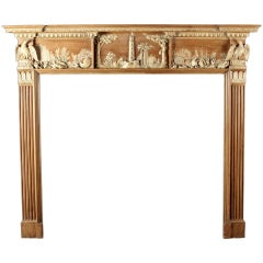 A Rare and Fine George III Pine and Composition Fireplace Mantle