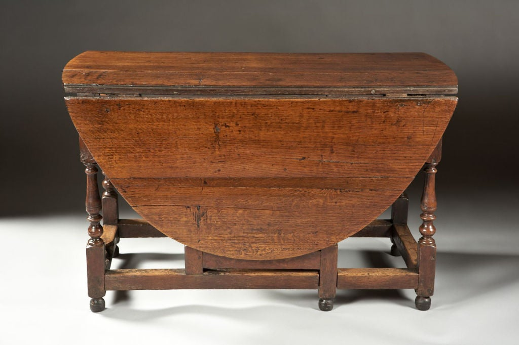 A mid 18th century english oak gateleg dining table at 1stdibs for Gateleg dining table