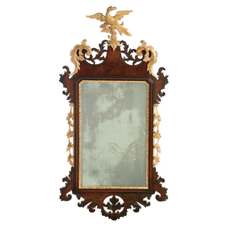 A high quality parcel gilt mahogany chippendale mirror at for Mirror quality