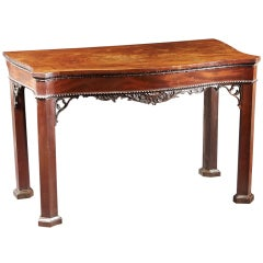 A Fine Chippendale Serpentine Carved Mahogany Pier Table, 1755