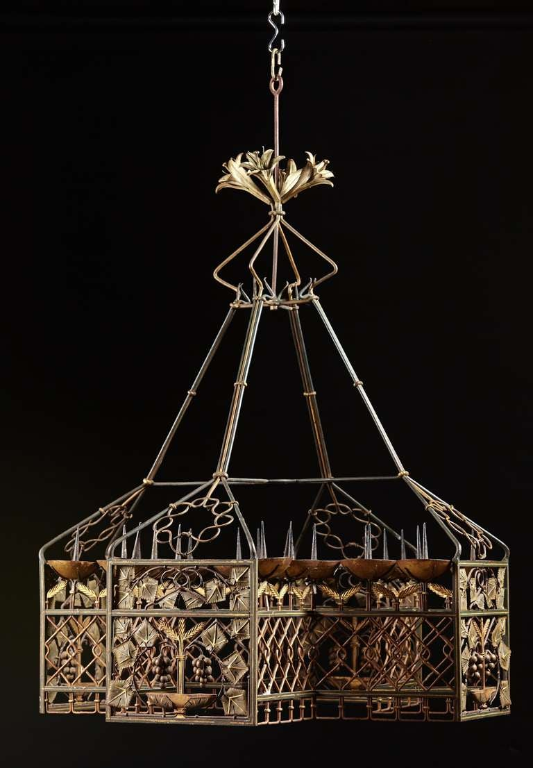 An Important Tole Arts and Crafts Period Chandelier at 1stdibs