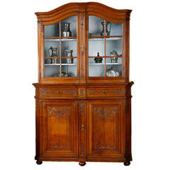 French Provincial Louis XVI Oak Vitrine