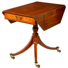 Regency Pedestal Base Pembroke Table
