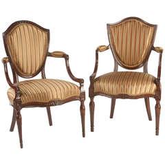 Hepplewhite Shield-Back Armchairs