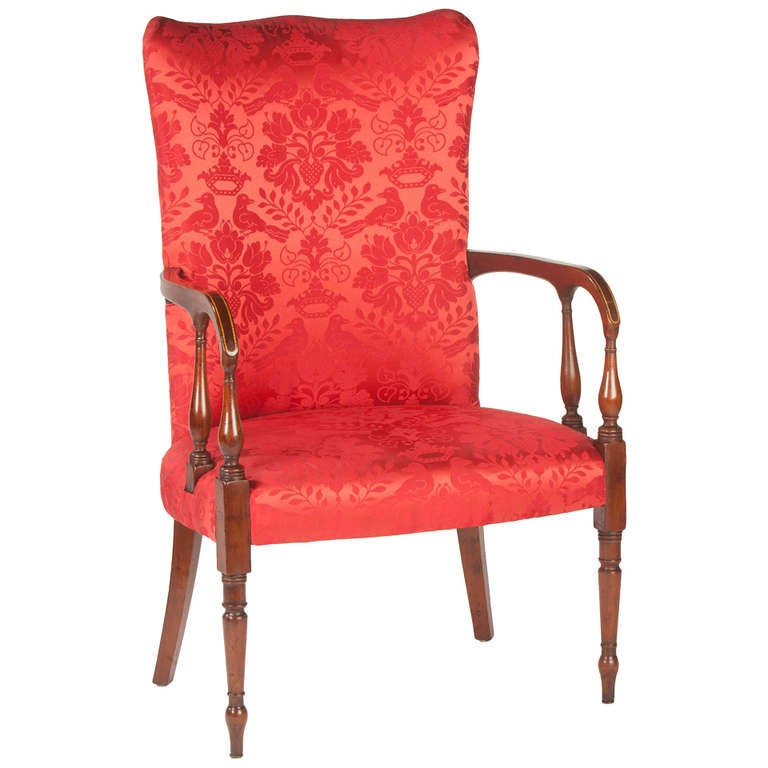Awesome Rare American Federal Lolling Chair 1