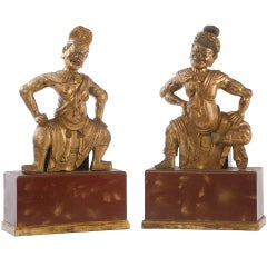 Pair of Chinese Temple Guardians Sculptures
