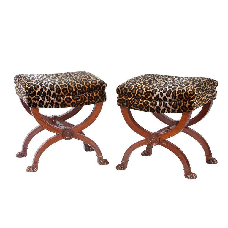 Pair of Empire Curule Form Stools