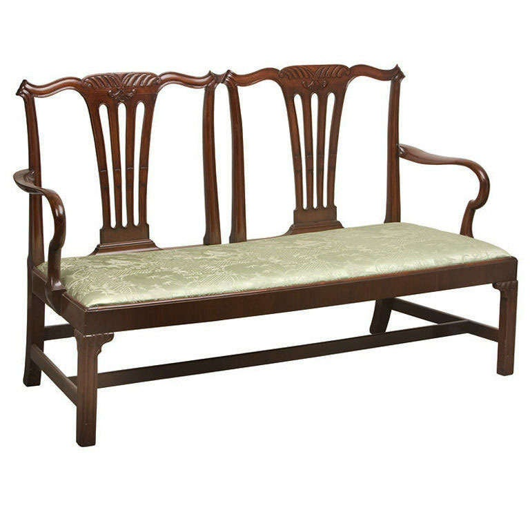 Chippendale double chairback settee for sale at 1stdibs for Settees for sale