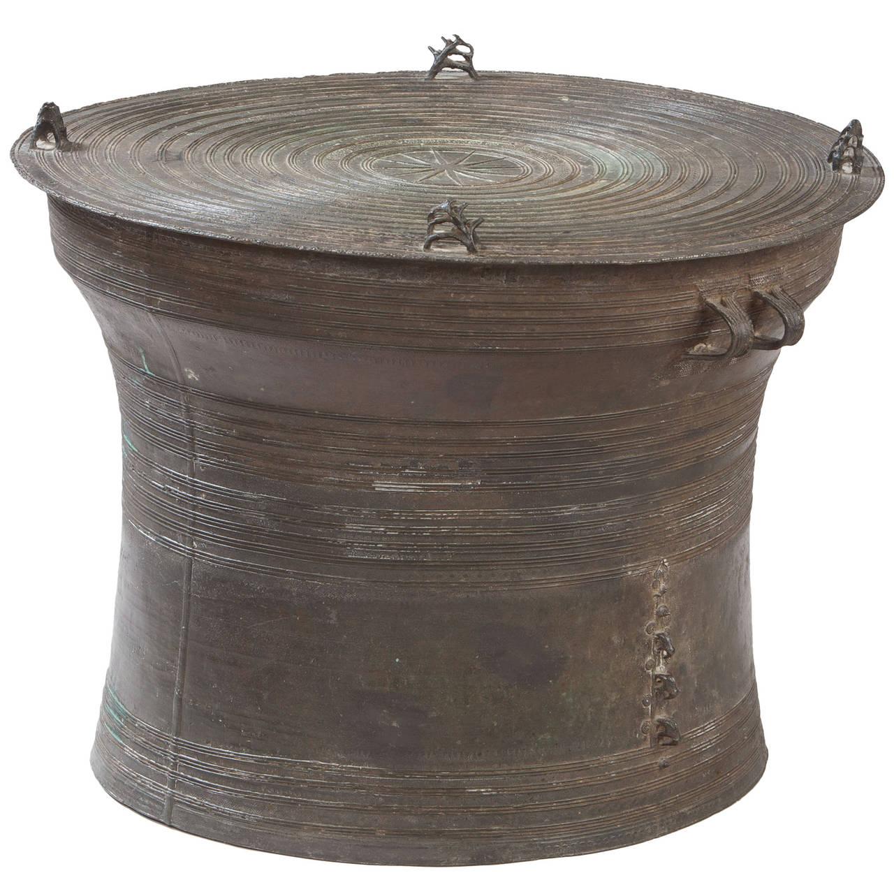 Bronze Rain Drum At 1stdibs