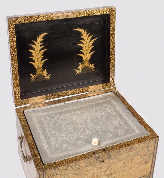 Chinese export lacquer tea box at 1stdibs for Chinese furniture norwalk ct