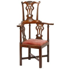 English Chippendale High back Corner Chair