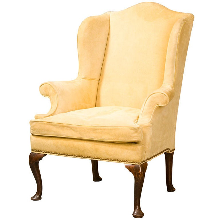 Queen anne wing chair at 1stdibs for Modern queen anne furniture