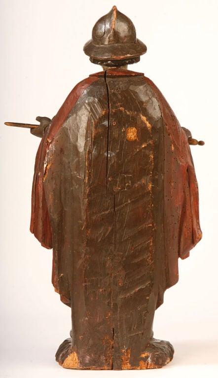 Spanish Baroque Carved Figure of a Conquistador 2