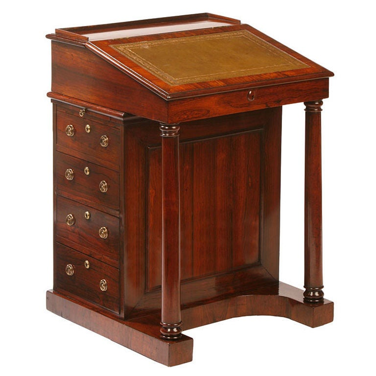 English Regency Davenport Desk At 1stdibs