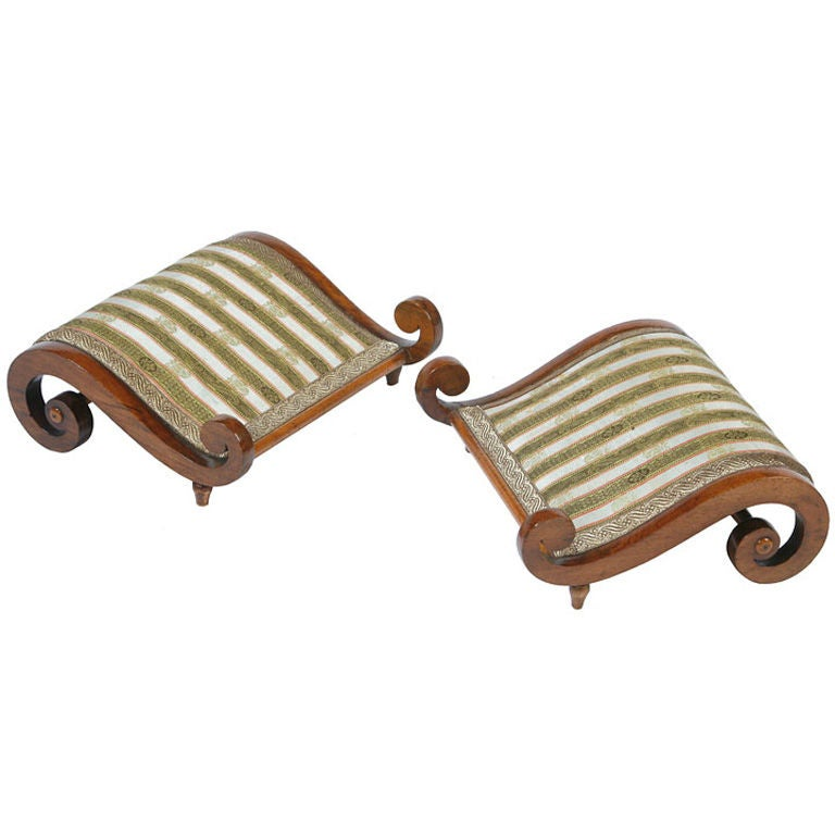 Pair Of Italian Classical Gout Stools For Sale At 1stdibs
