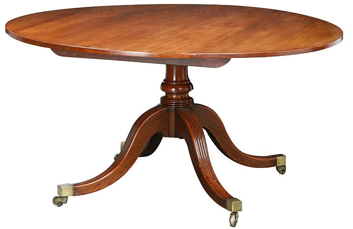 Regency Large Round Dining Table At 1stdibs