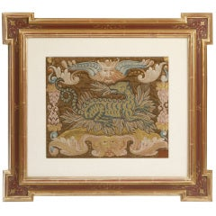 Italian Needlework Picture of a Dragon