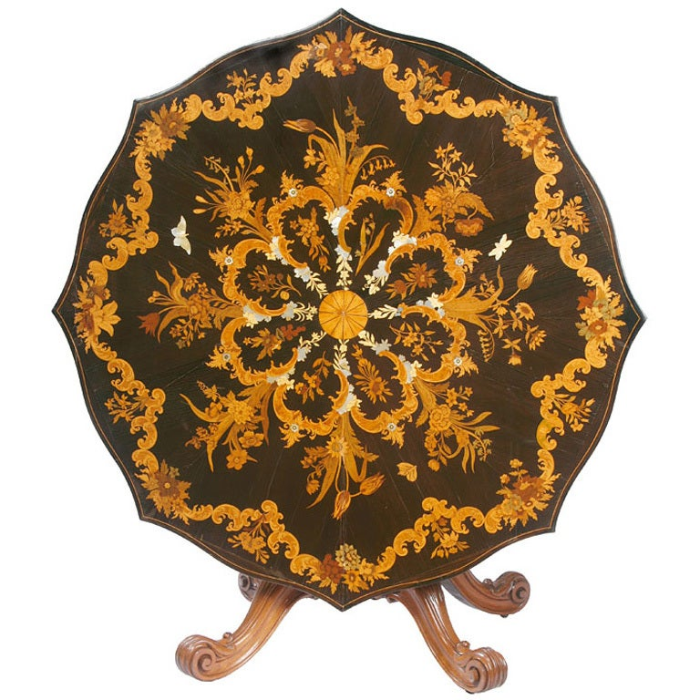 Large Victorian Marquetry Center Table For Sale at 1stdibs : XXX852313477300481 from www.1stdibs.com size 768 x 768 jpeg 123kB