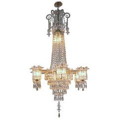 English William IV Early 19th Century Crystal Chandelier
