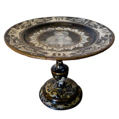 French Limoges Tazza, 19th Century