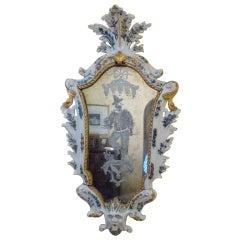 Italian Porcelain and Etched Mirror, Veneto Region