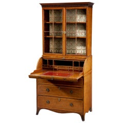 English George III Secretary Bookcase