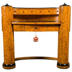 Biedermeier Oval Desk Designed by Josef Danhauser
