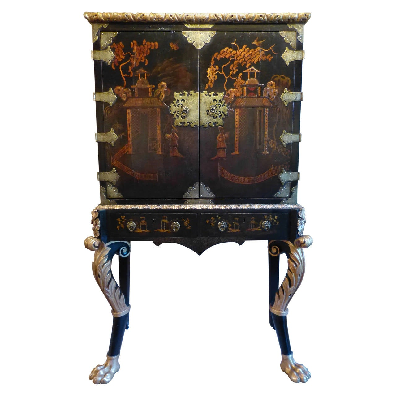 Chinese Cabinet On Stand At 1stdibs