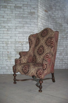 English early 18th century William & Mary Wingback Chair