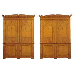 Pair of Monumental Bookcases/Cabinets