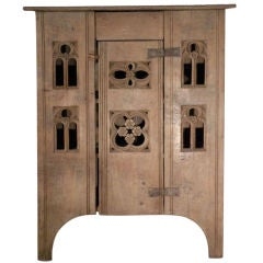 English 19th century Gothic Style Oak Food-Cabinet