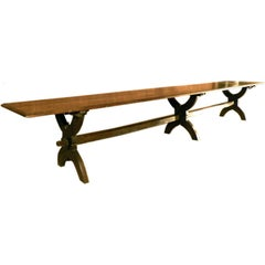 16 foot long 17th century French Oak trestle Table