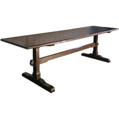 The quintessential  early English oak trestle table
