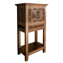 French 16th and 19th Century Gothic Freestanding Oak Cabinet