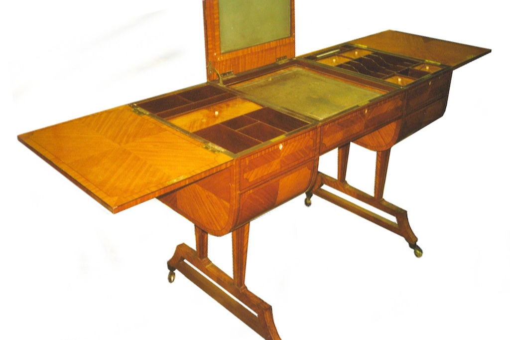 British English Edwardian Dressing or Writing Table by Waring & Gillow For Sale
