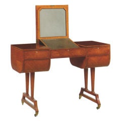 English Edwardian Dressing or Writing Table by Waring & Gillow